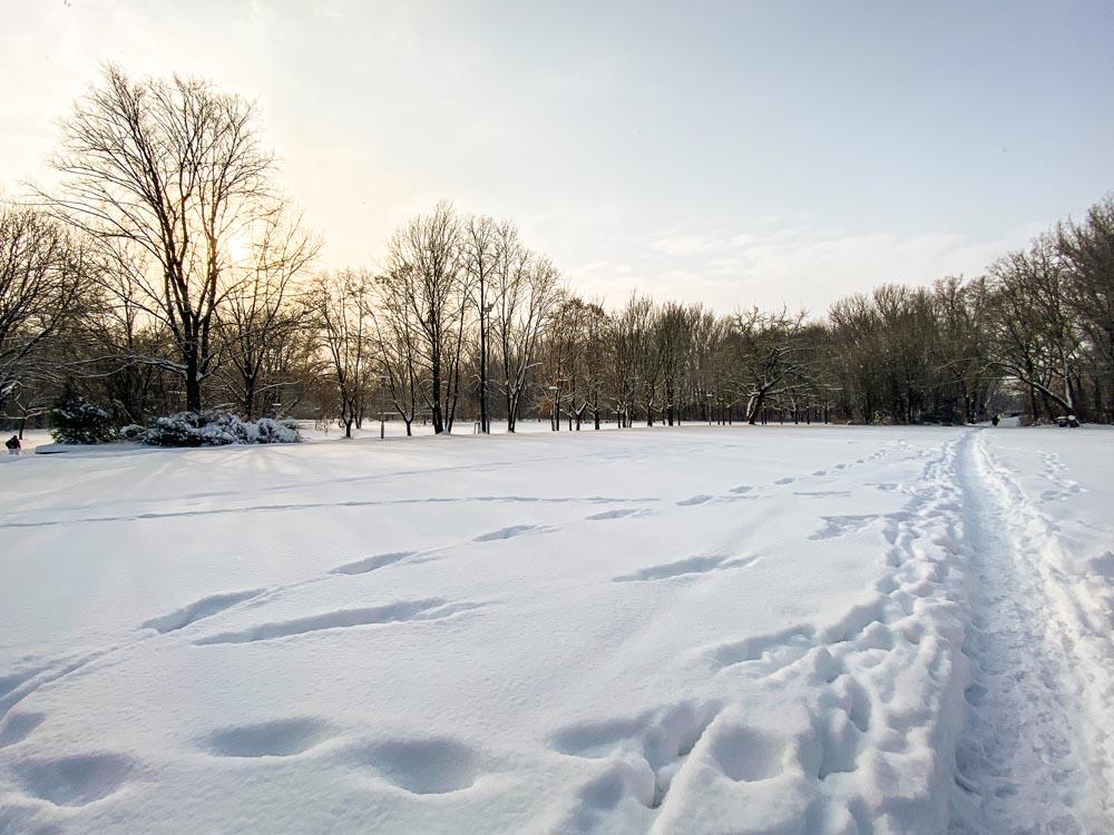 Schnee in Halle